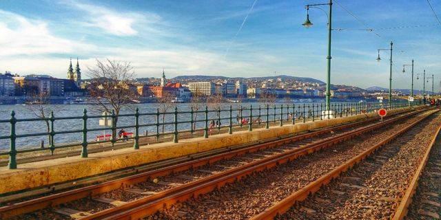 Scenery along Tram line #2 on the Danube