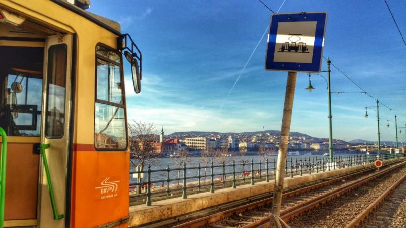 beautiful tram journey in Budapest