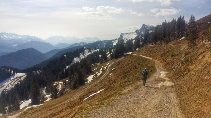 hiking to the Braunneck is a great adventure in the Bavarian Alps
