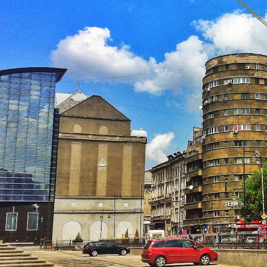There are so many architectural contrasts between communism, modern and refurbished buildings in Bucharest.