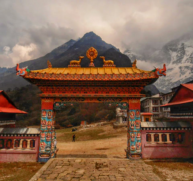Entrance to a monastery as seen on the Everest base camp trek