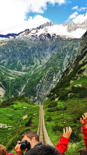 Gelmer Funicular is one of the highlights of the Haslital region in Switzerland.