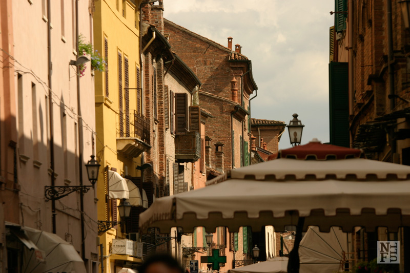 One of the streets of Ferrara