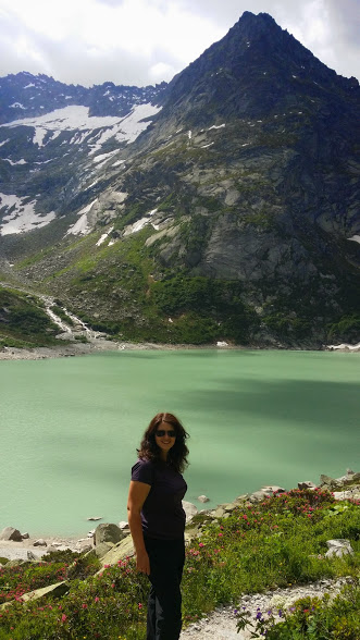 Laurel Robbins at Gelmer Lake, in the Haslital Region of Switzerland.