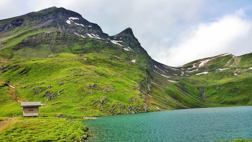 Bachalpsee (lake), reached from taking the gondola from Grindelwald (Switzerland)and then an easy hike.