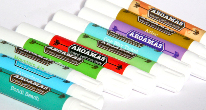 aroamas solid perfume sticks, the perfect gift for women travelers