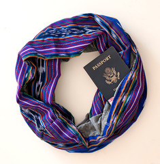 travel scarf, great for keeping your valuables safe when traveling