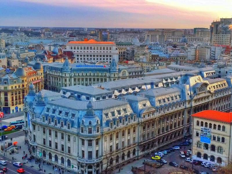 bucharest sighseeing view from the Intercontinental Hotel