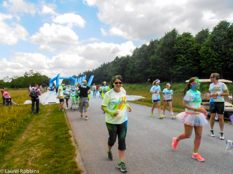Laurel adventures in running a 5km at The Color Run in Munich, Germany