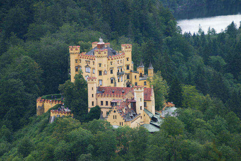 Hohenschwangau castle near Neuschwanstein, you can visit 2 castles in one day!