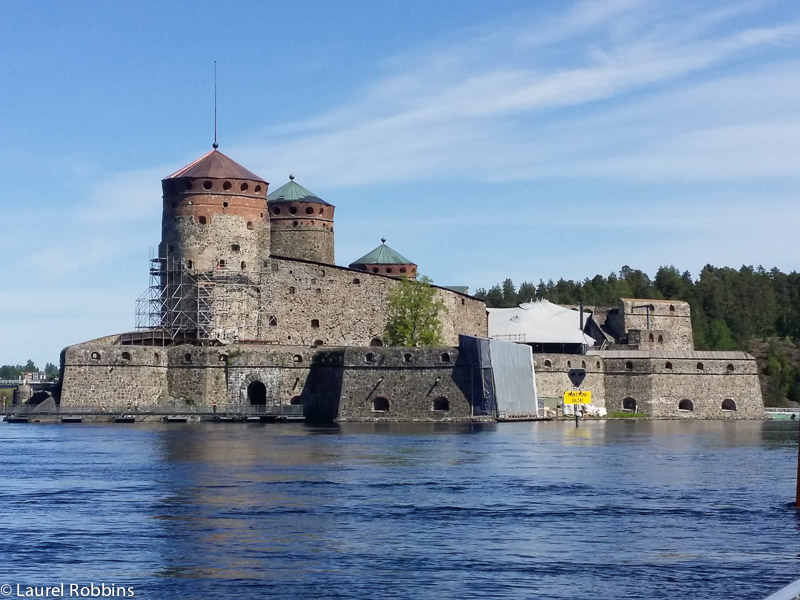 St. Olaf's Castle, one of the tourist attractions in Savonlinna, Finland.