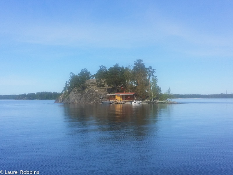 A Finnish cottage on it's own private island on Lake Saimaa in Savonlinna, Finland