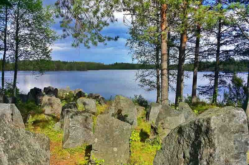 traveling along Iron Curtain Trail in Finland