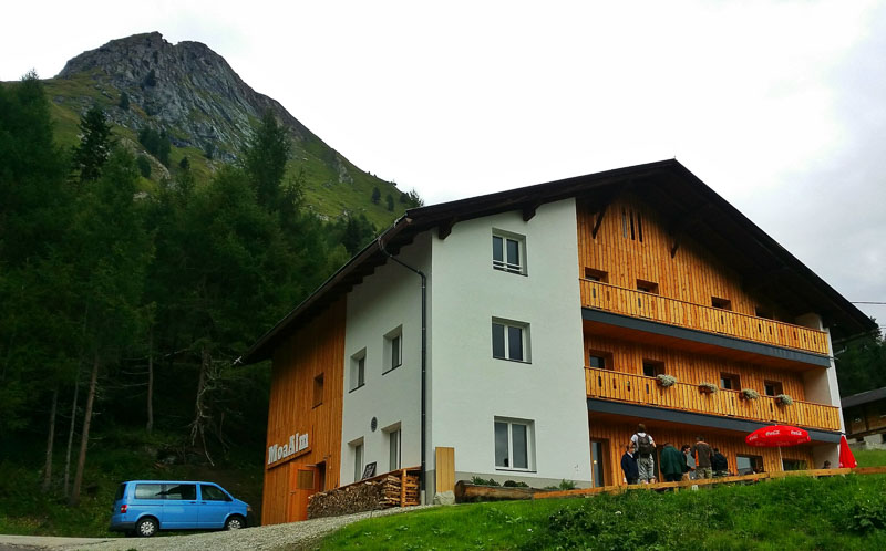 staying overnight at MoaAlm in Hohe Tauern
