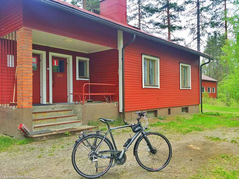 you can stay in a Finnish cabin, while cycling the Iron Curtain Trail