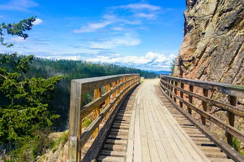 Myra Canyon is a scenic cycle route in Kelowna, British Columbia