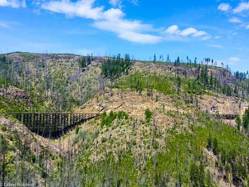 Myra Canyon 12 years after the Okanagan Mountain Fire of 2003.