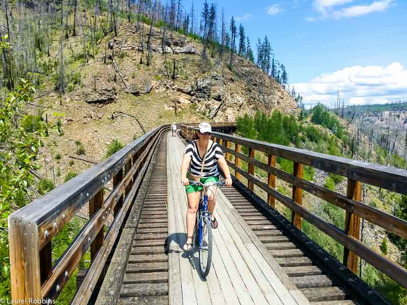 Cycling across 18 trestle bridges in Myra Canyon? I'm up for the adventure!