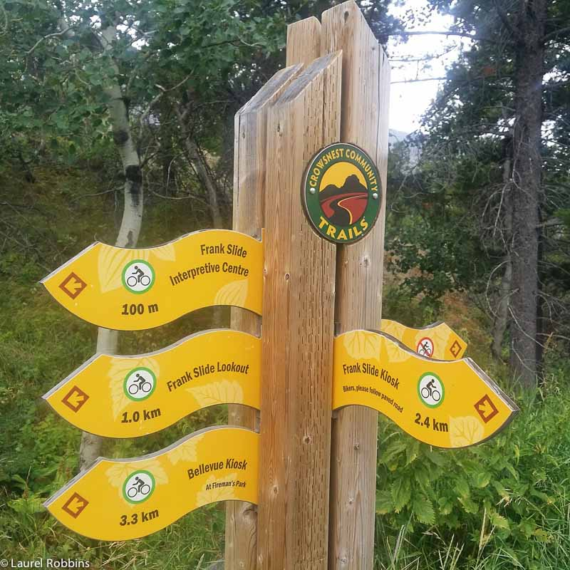 Cycling and walking trails starting from Frank Slide Interpretive Centre in the Crowsnest Pass.