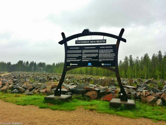 Winter War Memorial on the Iron Curtain Trail Finland