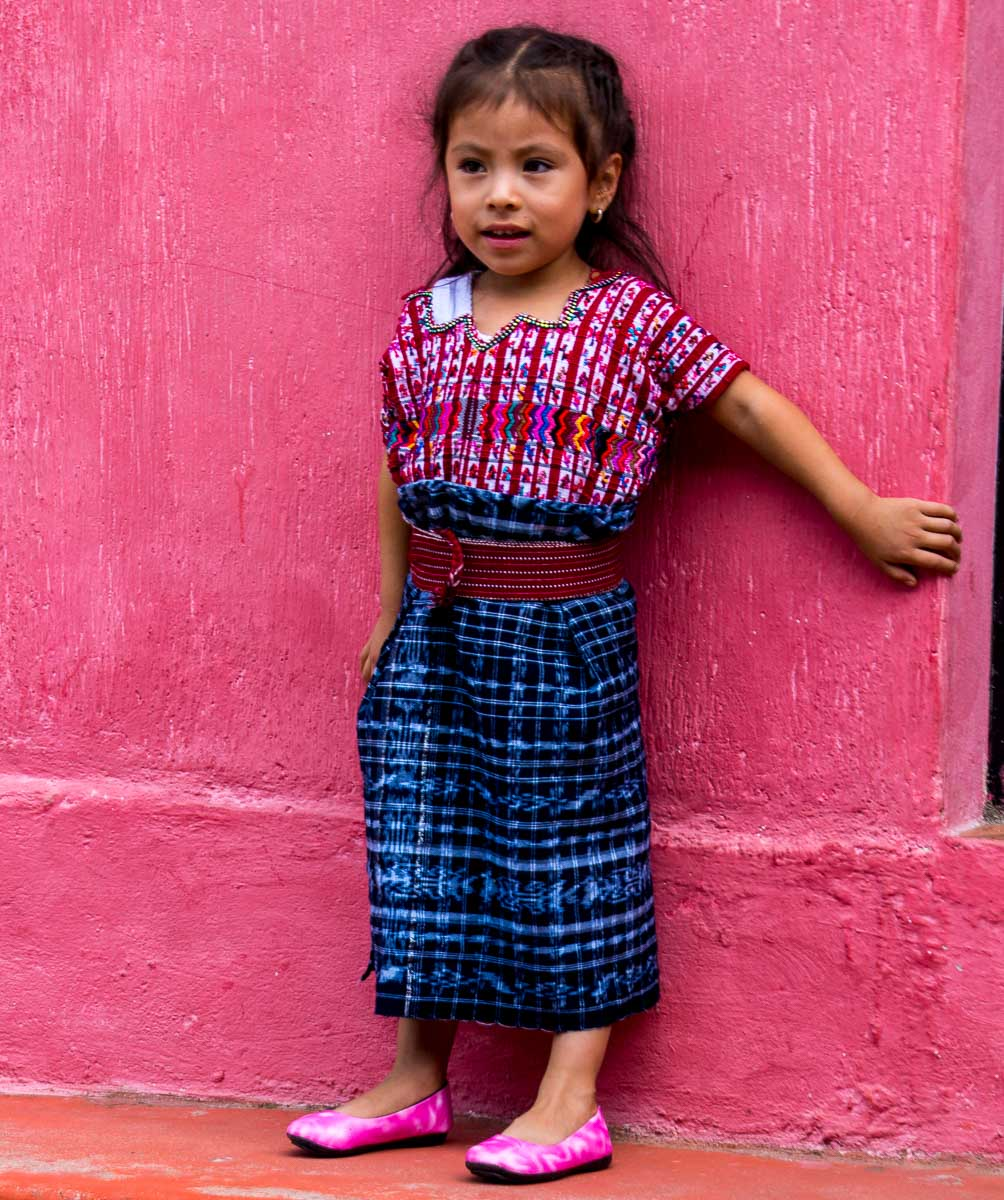 Guatemala people, a young girl who loved posing
