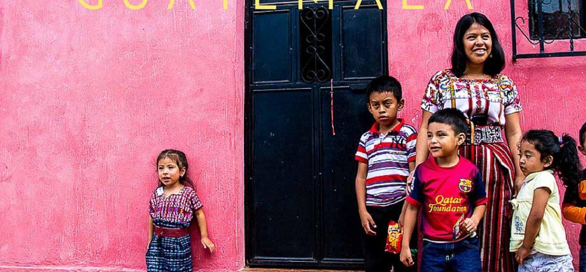Guatemalan people near Lake Atitlan