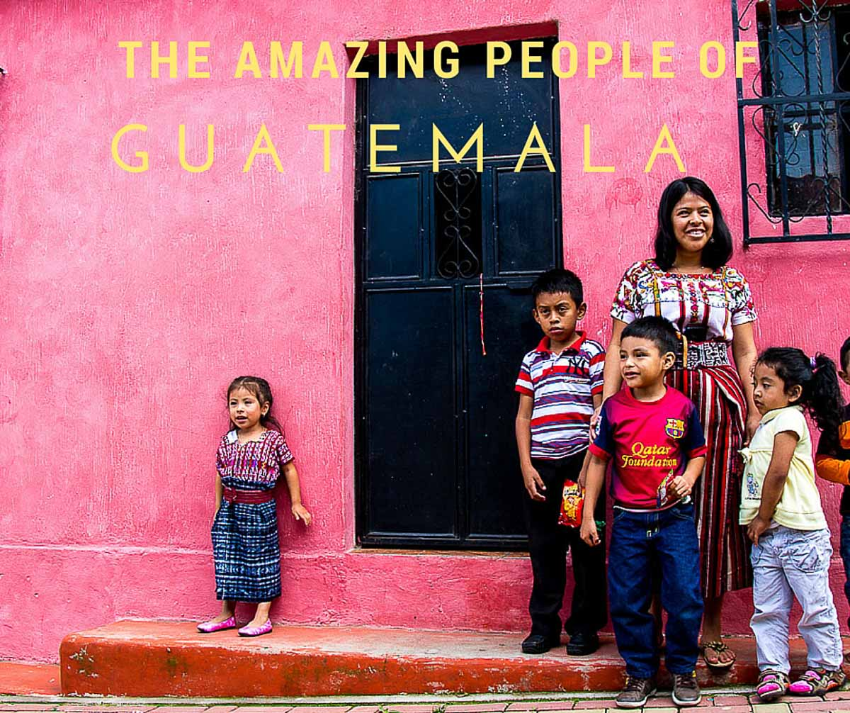 Guatemalan people near Lake Atitlan