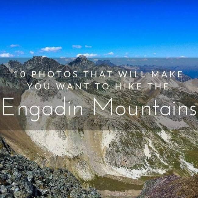 Engadin mountains St Moritz Swizterland