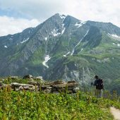 hiker on the Tour du Mont Blanc