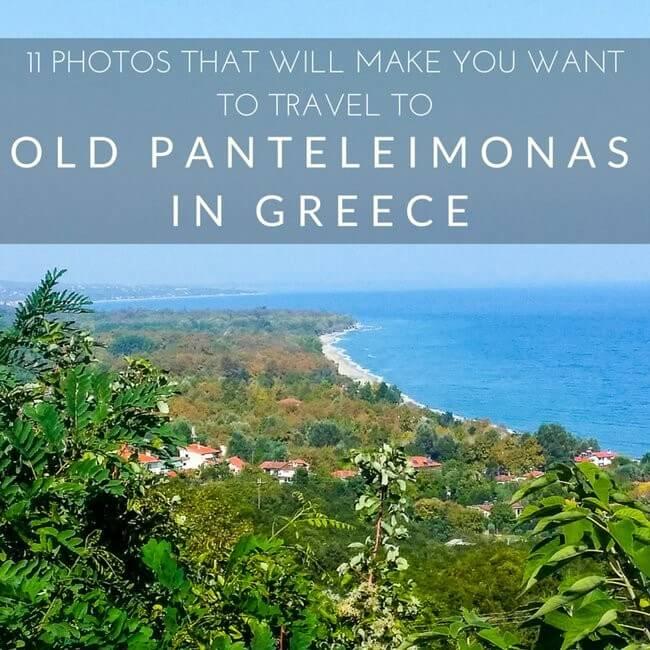 Old Panteleimonas with a view of the Thermaikos Gulf.