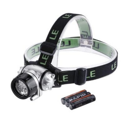 day hiking packing list: LED headlamp for mountaineering