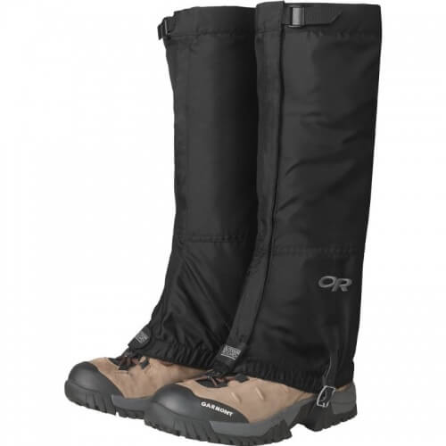 day hiking packing list: gaiters for a mountain adventure