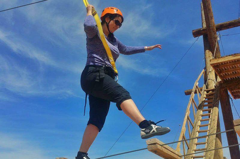 Adventurous high ropes course outside of Las Vegas
