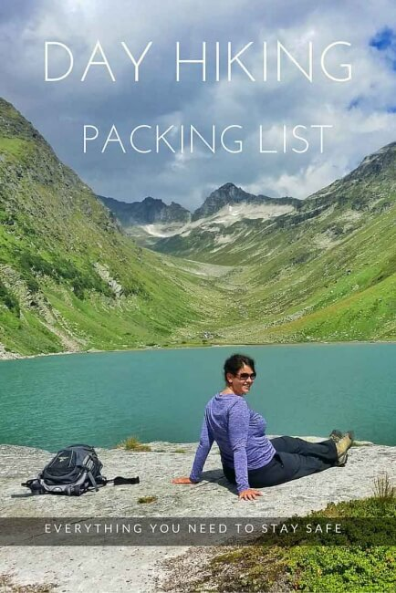 day hiking packing list
