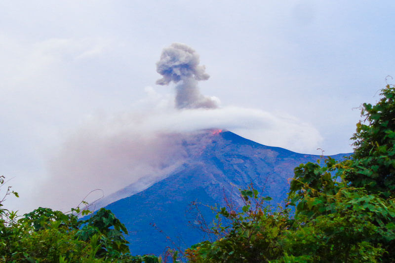 More eruptions from Fuego Volcano