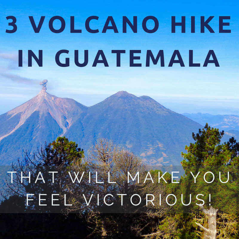 3 volcano hike in guatemala