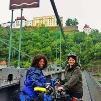 adventure travel blogger Laurel Robbins cycling the Danube in Germany and Austria