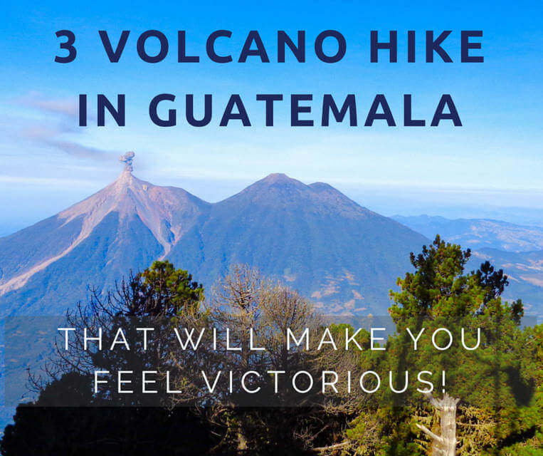 3 volcano hike in guatemala