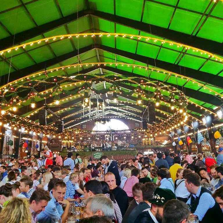 Each beer tent has its own flair. Oktoberfest Germany
