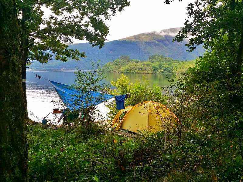You can camp along the shores of Loch Lomond.