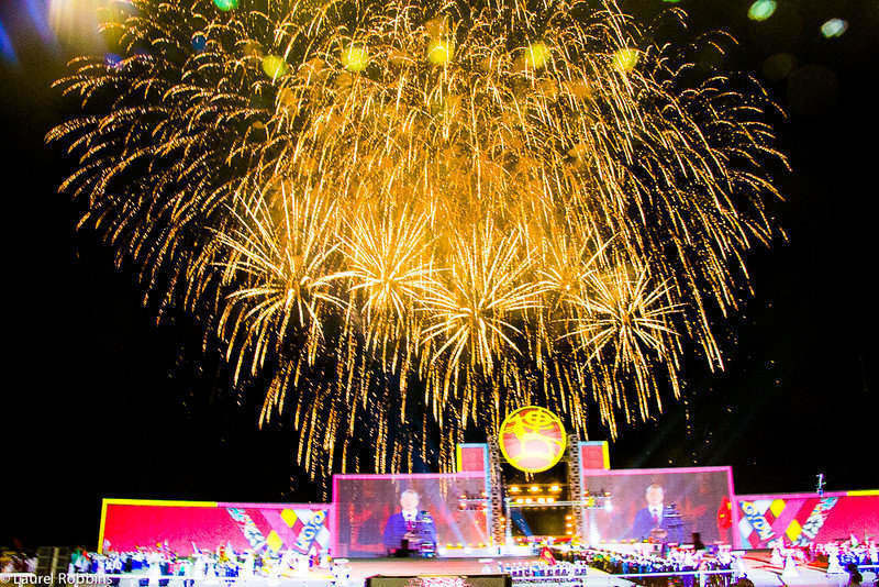 Fireworks at the Opening Ceremonies of the World Nomad Games in Cholpan-Alta