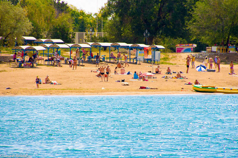 You'll find incredible beaches along the shores of Lake Issyk-Kul, the second highest alpine lake in the world! Remarkably it never freezes!