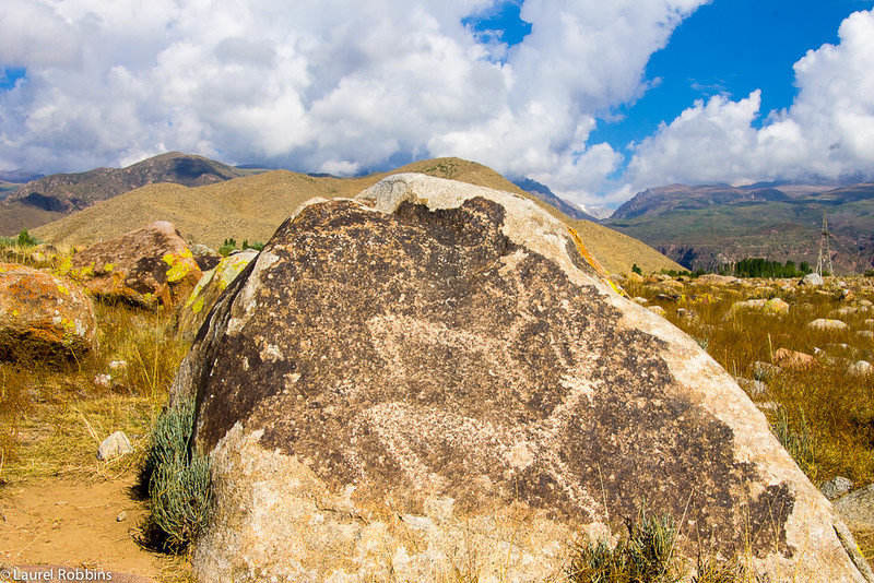 The petroglyphs at Cholpon-Ata depict mainly hunting scenes, revealing what was important in earlier times.