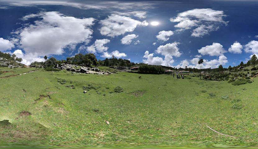 Hiking cuchumatanes mountain range in Guatemala