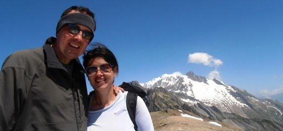 Adventure travel Laurel Robbins hiking the Tour du Mont Blanc with her husband