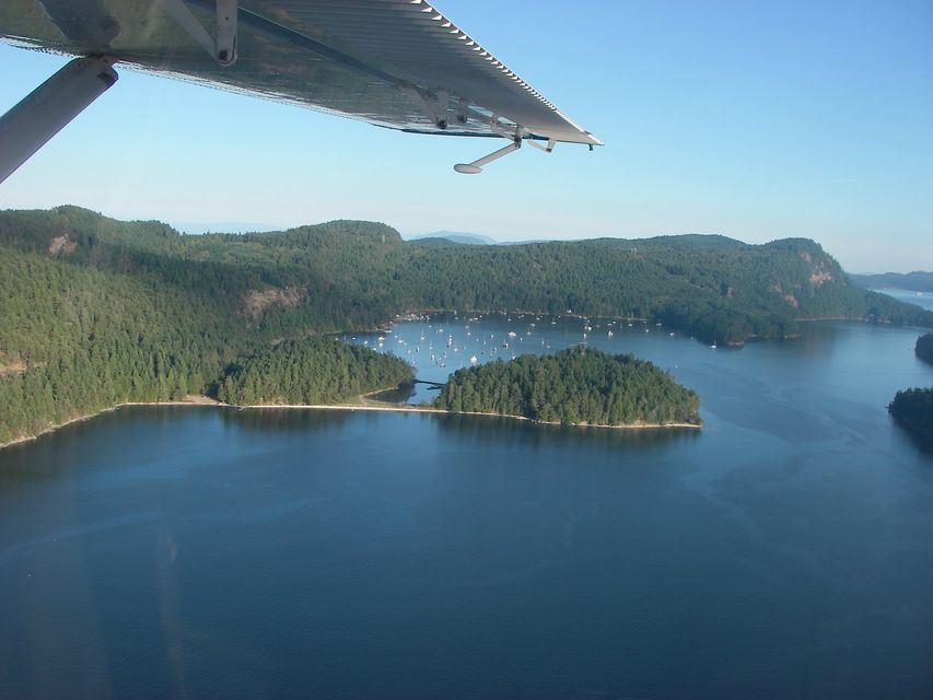 Aerial view from the seaplane between Vancouver and Salt Spring Island. Keep your eye out for dolphins.