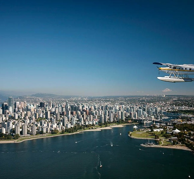 You can see many of the points of interest in Vancouver by seaplane.