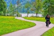 Danube cycle path (Donau radweg) eurovelo 6 from passau germany to vienna austria