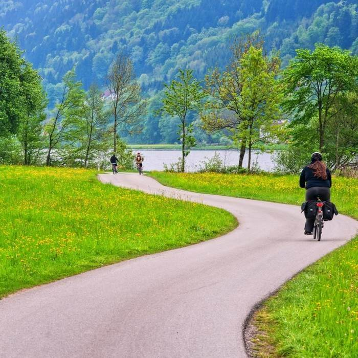 Danube cycle path (Donau radweg) eurovelo 6 from passau germany to vienna austria