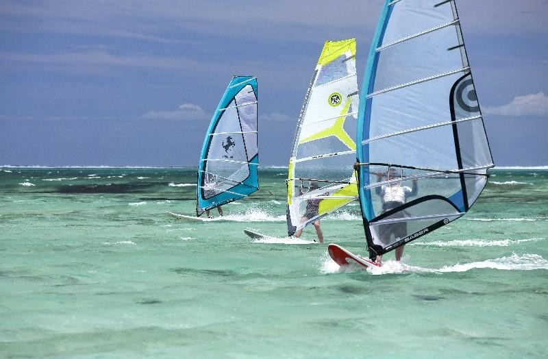 Mauritius is an ideal spot for windsurfing